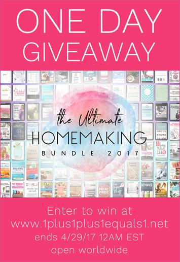 Ultimate Homemaking Bundle 2017 Giveaway