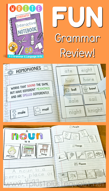 Fun Grammar Review from The Crafty Classroom