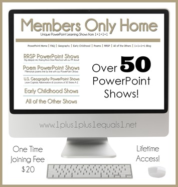 Members Only PowerPoint ~ Unique Learning Shows for Kids