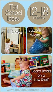 Tot School Ideas Ages 12-18 Months