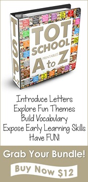 Tot School Printables A - Z Bundle