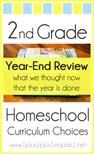 2nd Grade Homeschool Curriculum Year End Wrap Up