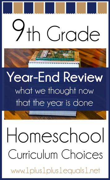 9th Grade Homeschool Curriculum Year End Wrap Up