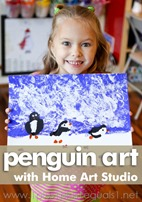 Penguin Art with Home Art Studio