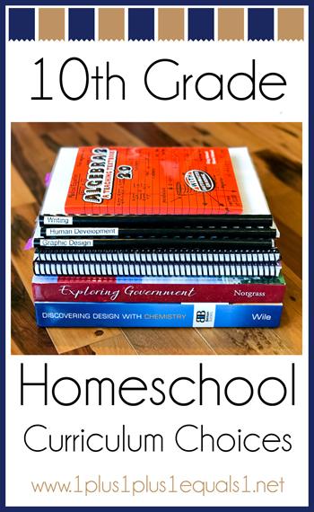 10th Grade Homeschool Curriculum Choices