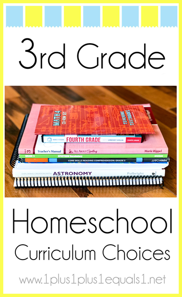 3rd Grade Homeschool Curriculum Choices L