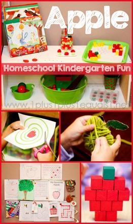 Apple Theme Homeschool Kindergarten Fun