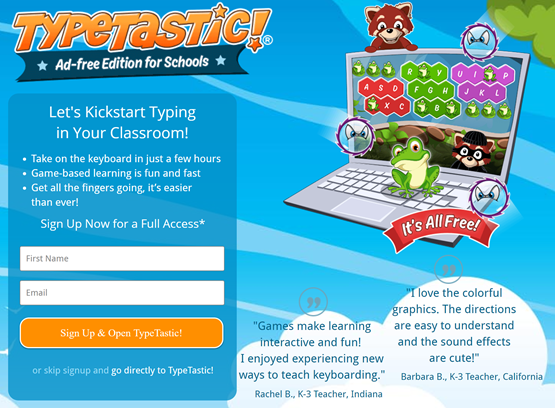 TypeTastic for Schools