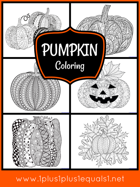 Pumpkin Coloring for Adults or Kids[3]