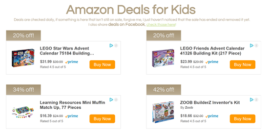 Amazon Deals for Kids