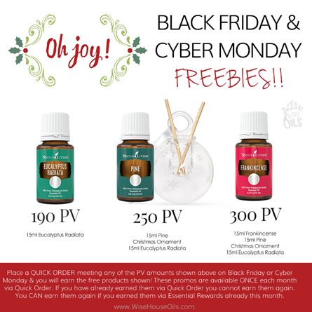 Black Friday and Cyber Monday 2017 Young Living Promo WHO