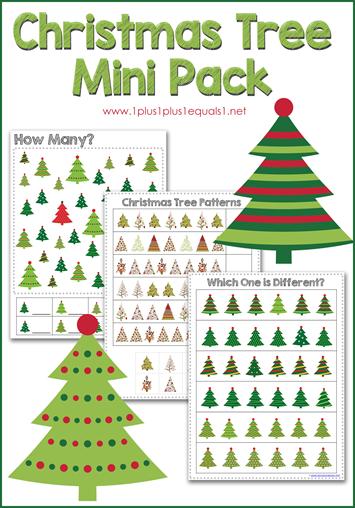 Christmas Tree Mini Printable Pack