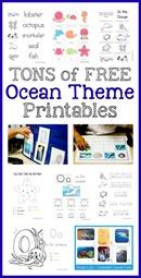 Ocean Theme Printables Collection