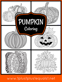 Pumpkin Coloring for Adults or Kids