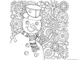 Snowman Coloring (2)