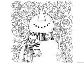 Snowman Coloring (4)