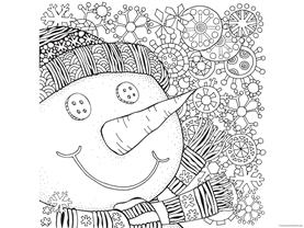 Snowman Coloring (5)