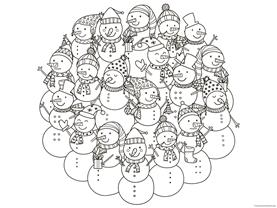 Snowman Coloring (6)