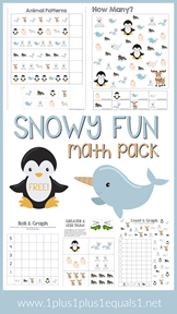 Snowy Fun Math Pack Free Printables