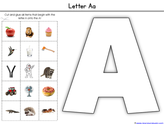 Alphabet Printables What Begins with (2)