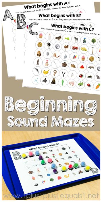 Beginning Sound Mazes Printables