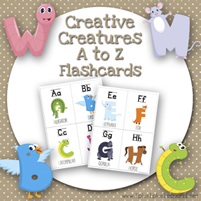 Creative Creatures A to Z Q Flashcards TN