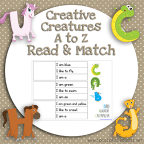Creative Creatures A to Z Read and Match TN
