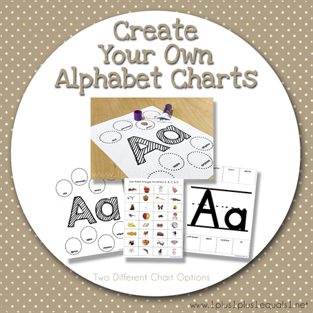 Create Your Own Alphabet Charts