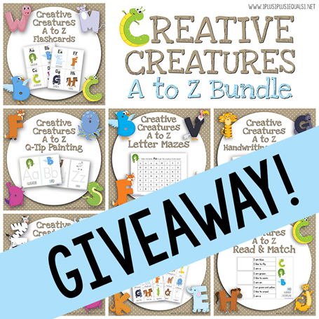 Creative Creatures A to Z Bundle giveaway