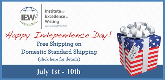 IEW free shipping July