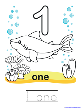 Ocean Animals Counting 0 through 10 Coloring Pages (3)