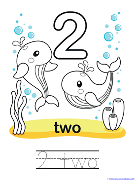Ocean Animals Counting 0 through 10 Coloring Pages (4)