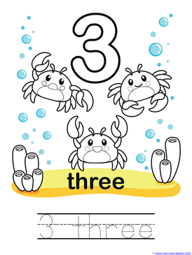 Ocean Animals Coloring amp Counting