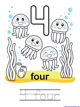 Ocean Animals Coloring Counting 010 111 1