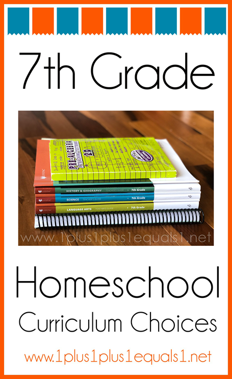 7th Grace Homeschool Curriculum Choices K