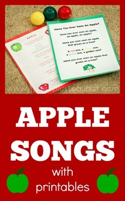 Apple Songs with Printables