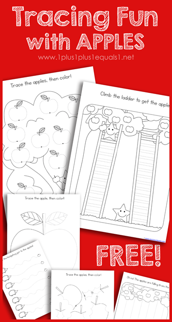 Tracing Fun with Apples Free Printables