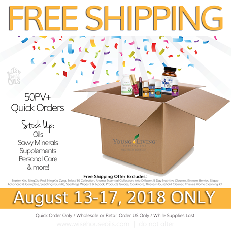 Young Living FREE SHIPPING WHO