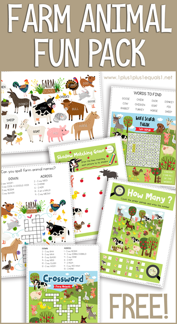 Farm Animal Fun Pack
