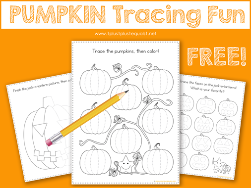 Pumpkin Tracing Fun