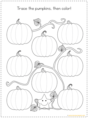 Tracing Fun Pumpkins (2)