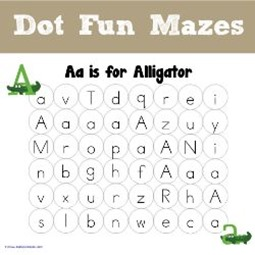 ABC Dot Fun Mazes