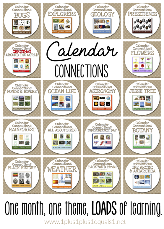 Calendar Connections Printable Cards