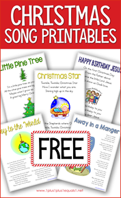 Christmas Song Printables for Kids