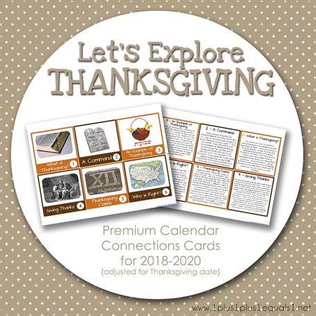 Let's Explore Thanksgiving 2018 through 2020