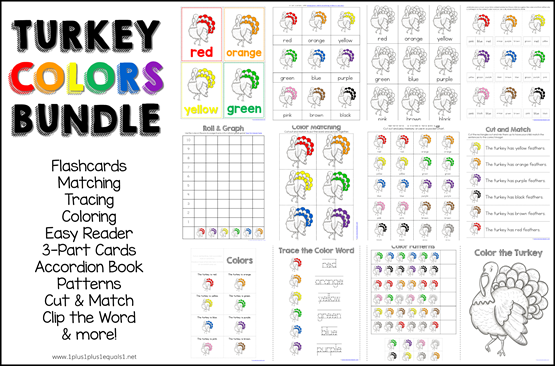Turkey Colors Bundle Printables