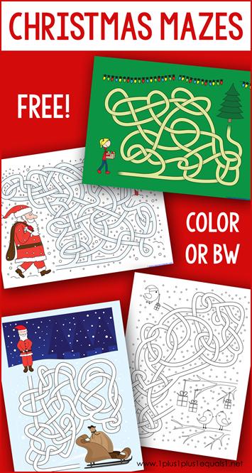 Christmas Mazes