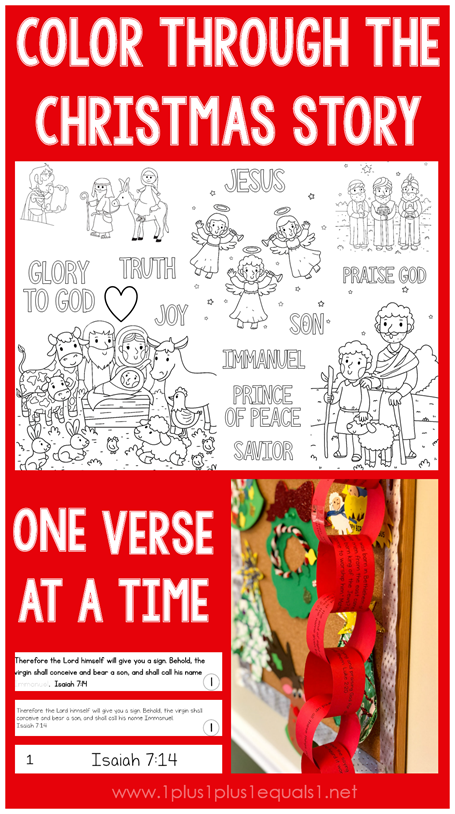 Color through the Christmas Story One Verse at a Time for Advent