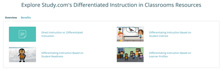 Study.com Differentiated Instruction Classroom Resources