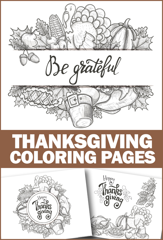 Thanksgiving Coloring Pages for Adults and Kids